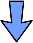 arrow-blue-outline-down