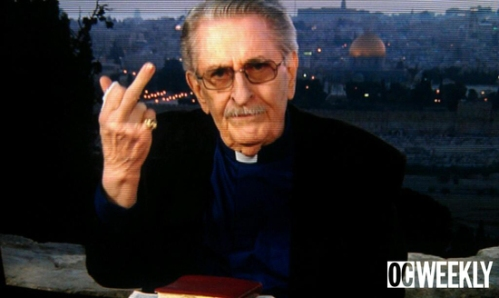 paul crouch flips off TBN cameras