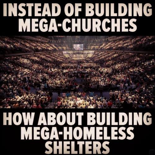 instead of building mega churches
